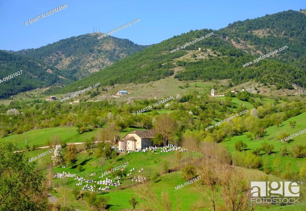 Stock Photo: Athanasius church, Kisha e Shën Thanasit, Voskopoja, Voskopojë, Region Korça, Korca, Albania.
