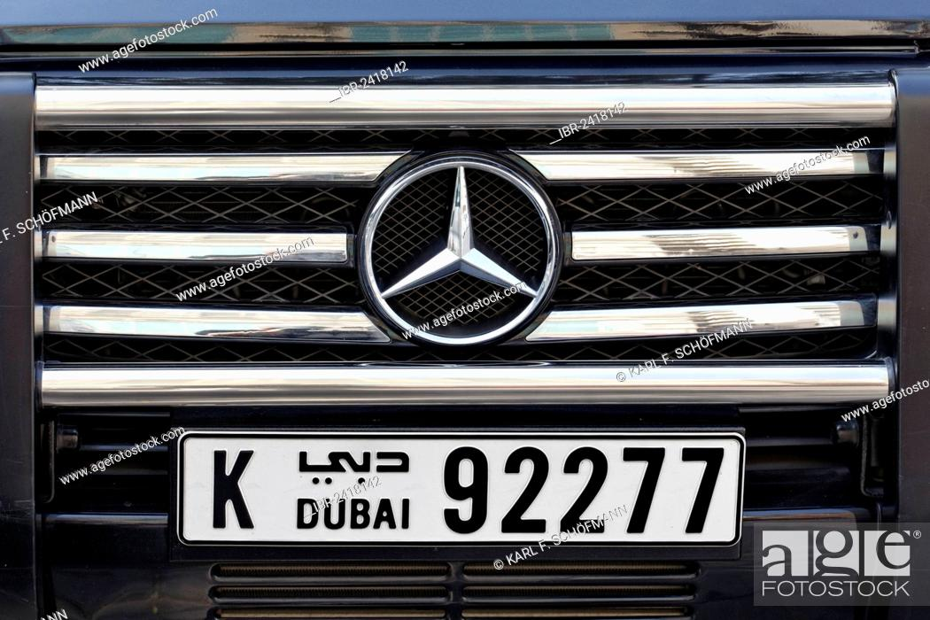 Mercedes With A Dubai Number Plate United Arab Emirates