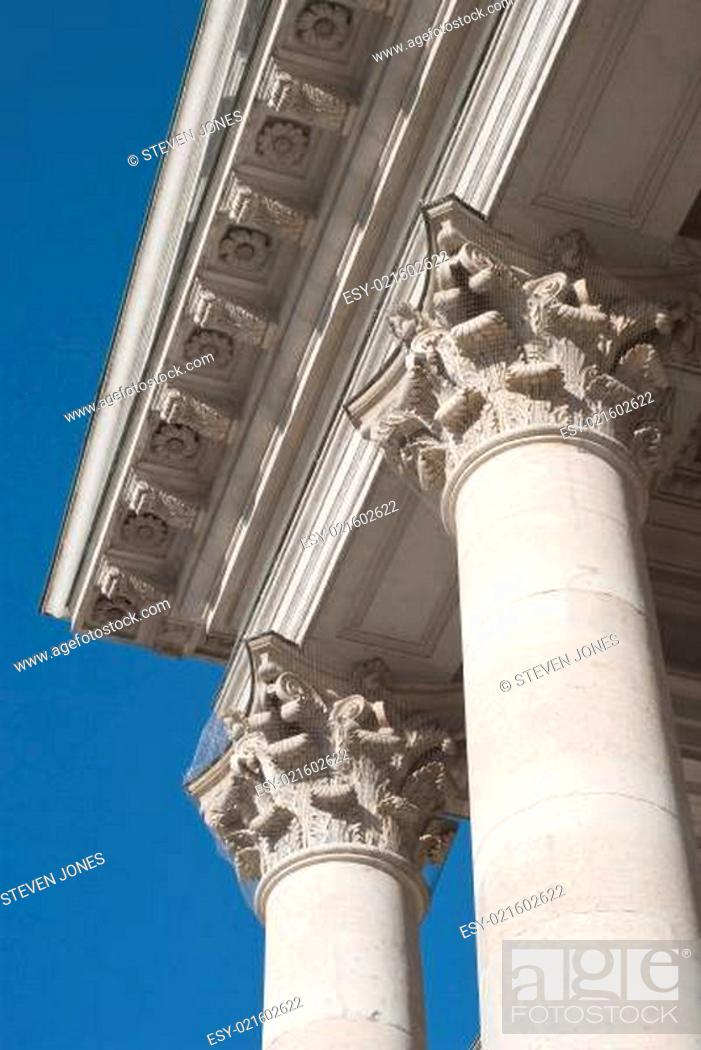 Stock Photo: Columns at the National Theater in Munich.