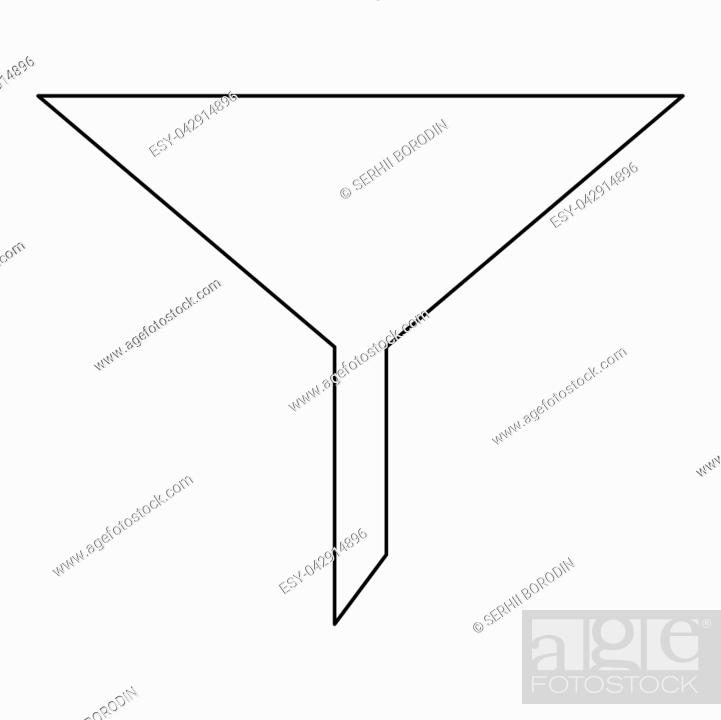 Stock Vector: Filter it is the black color icon .