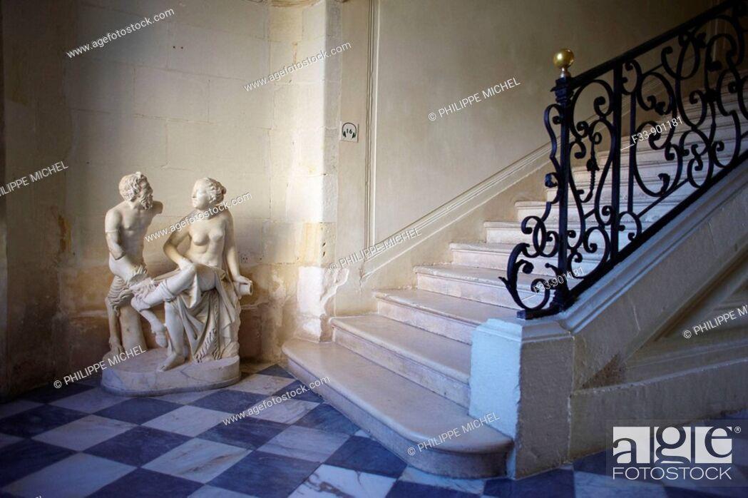 Stock Photo: Castle of Villandry, Indre-et-Loire, France.
