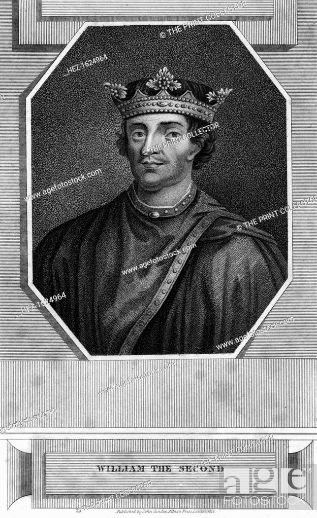 Stock Photo: King William II of England. Portrait of William Rufus (1056-1100), son of William the Conqueror.