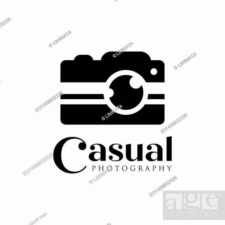 Vector: casual camera photography logo icon vector template.