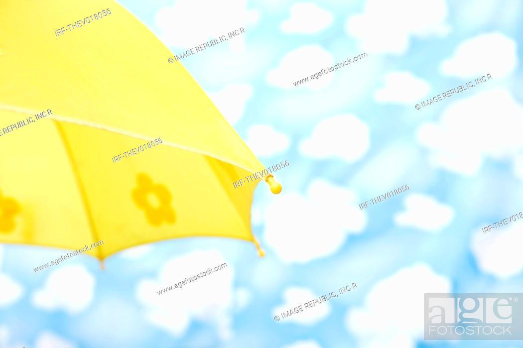Stock Photo: wallpaper and umbrella.