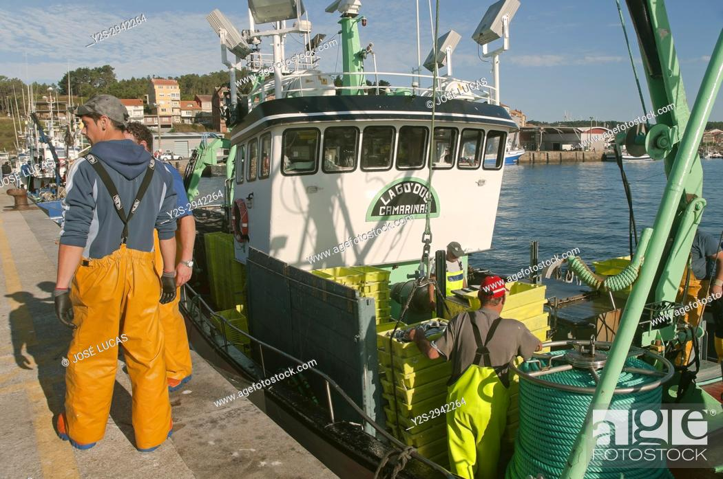 Stock Photo: Fishing port, Camarinas, La Coruna province, Region of Galicia, Spain, Europe.