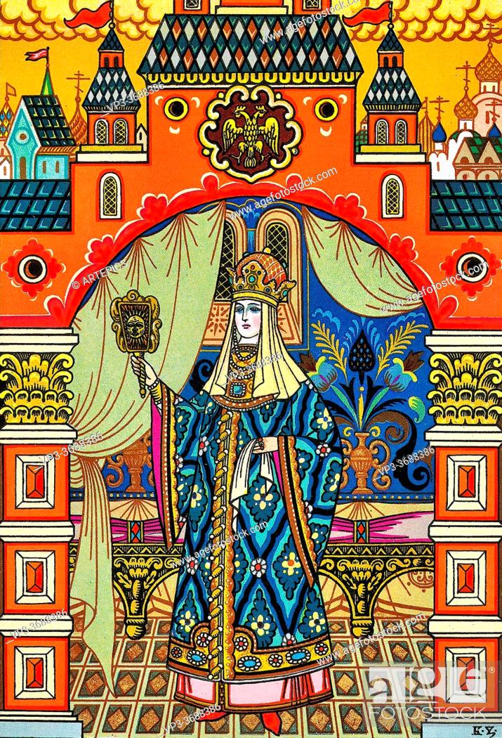 Imagen: Zvorykin Boris - the Tale of the Dead Princess and the Seven Knights 1 - Russian School - 19th and Early 20th Century.