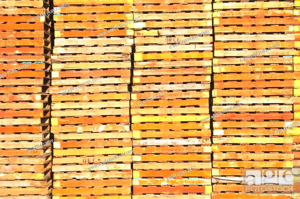 Stock Photo: Close-up of a pile of building bricks.