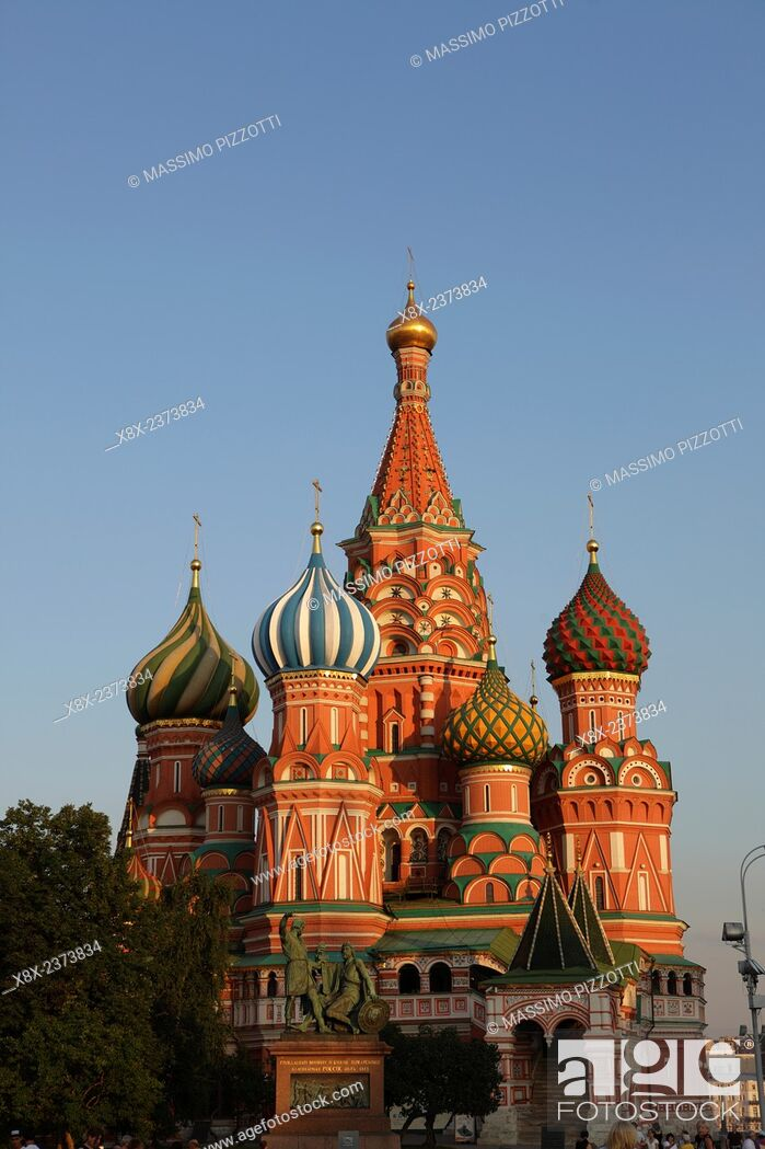 Stock Photo: Saint Basil's Cathedral, or Cathedral of Vasily the Blessed, in the Red Square, Moscow, Russia.
