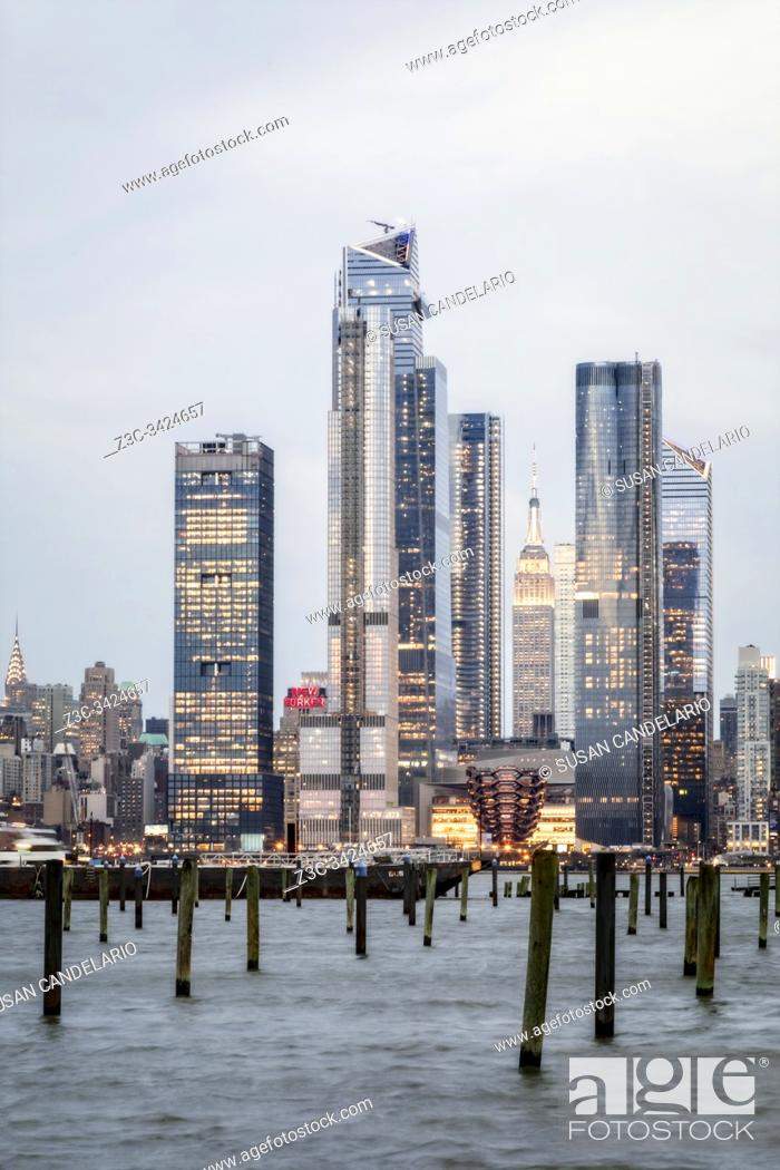 Stock Photo: Empire State NYC Hudson Yards.