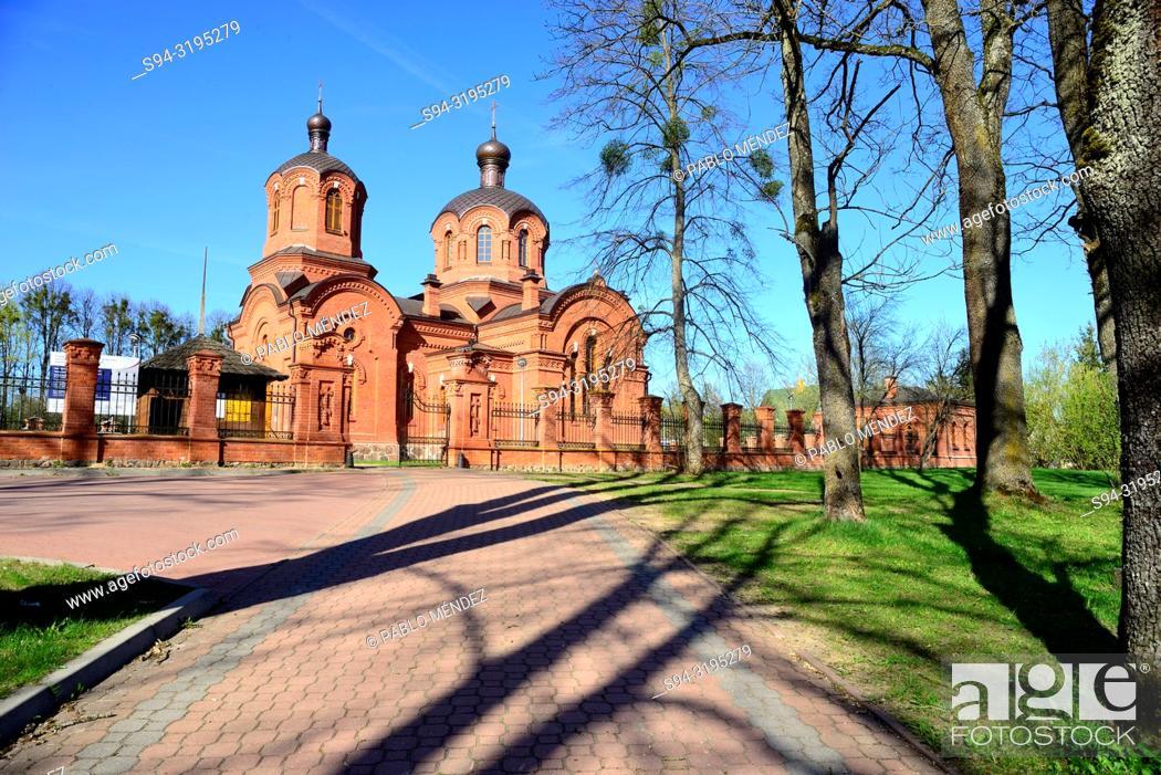 Stock Photo: Orthodox church of Saint Nicholas, Bialowieza, Poland.