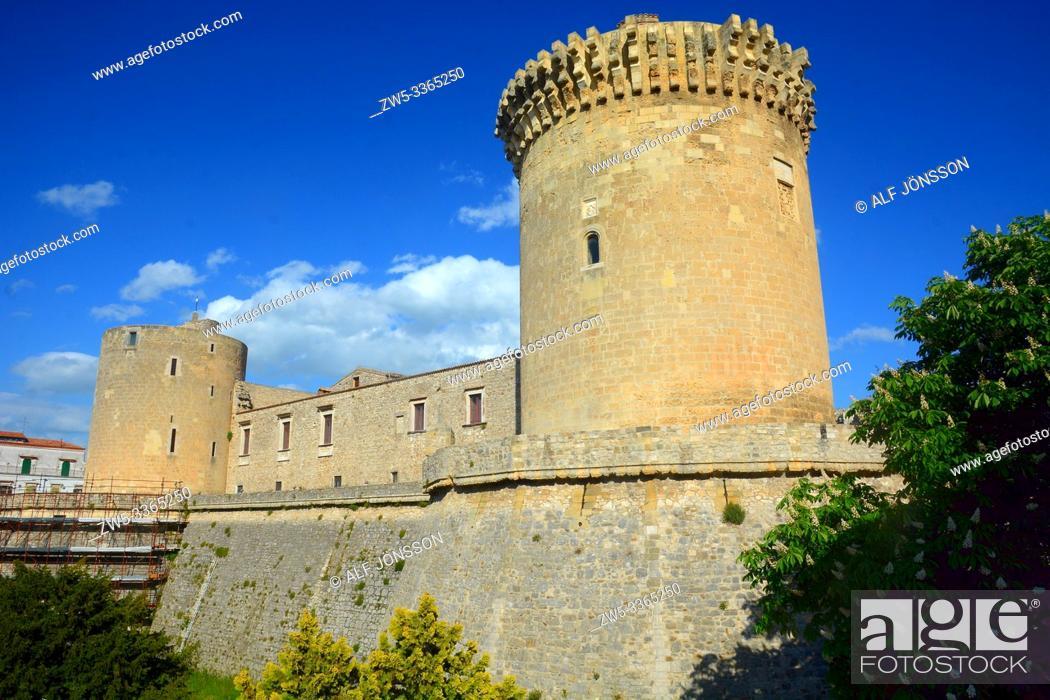 Stock Photo: Castle of Venosa, Basilicata, Italy.