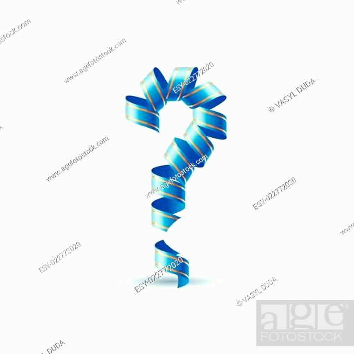 Stock Vector: Question mark made of spiral ribbon.