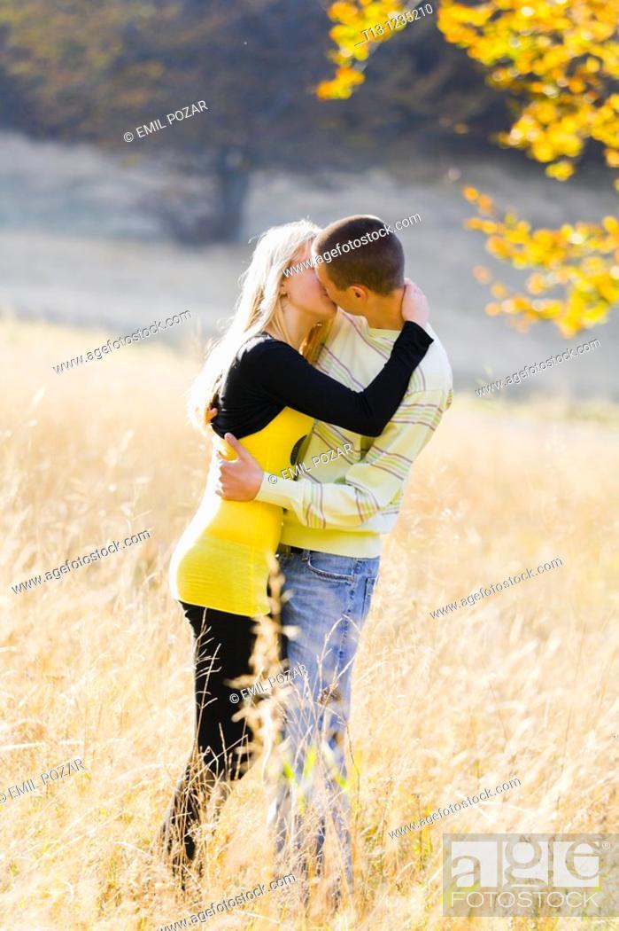 Stock Photo: Kissing couple.