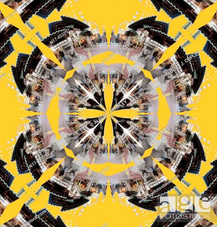 Stock Photo: kaleidoscope pattern.