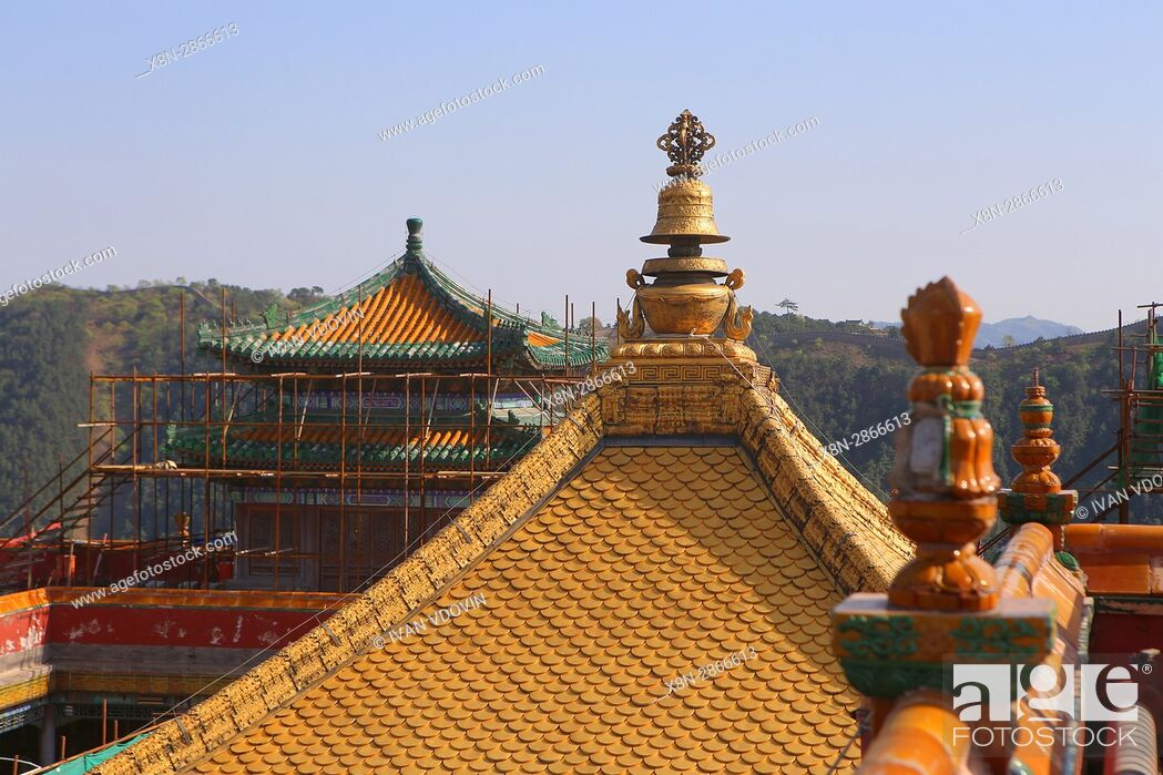 Stock Photo: Putuo Zongcheng temple (1771), Chengde, China.