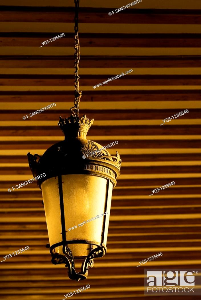 Stock Photo: Lamp in La Correría, Castro Urdiales, Cantabria, Spain.