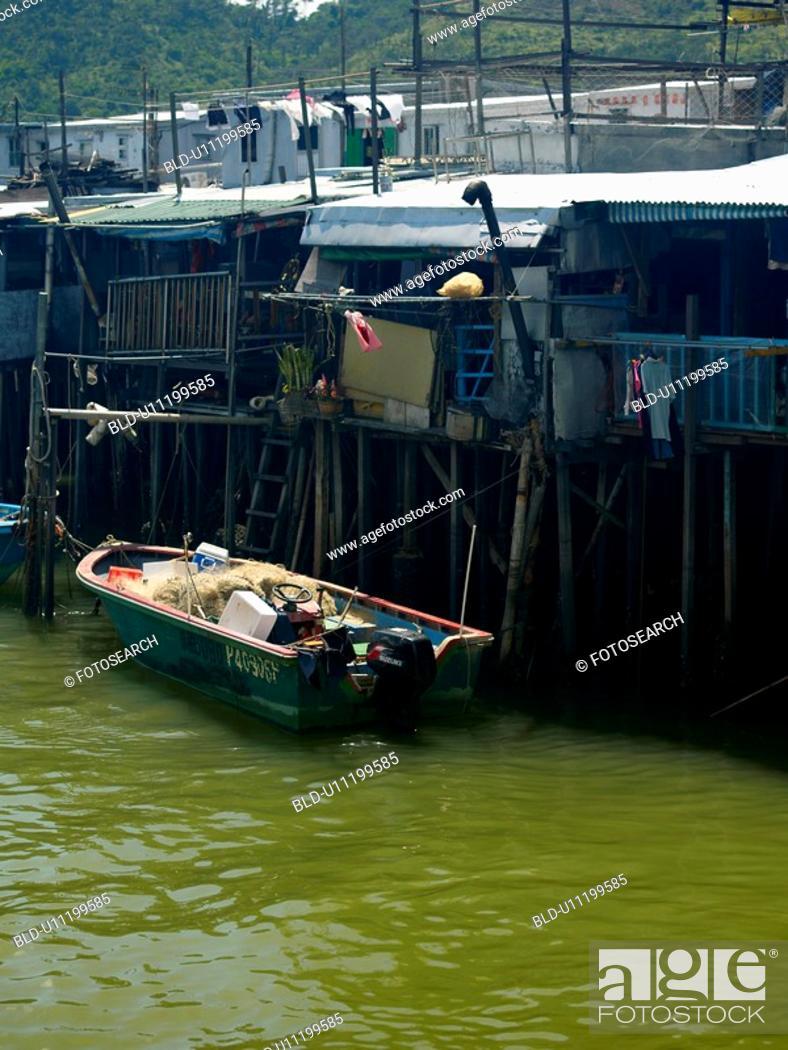 Stock Photo: Tai O Stilt Village, Lantau Island, Hong Kong, China.