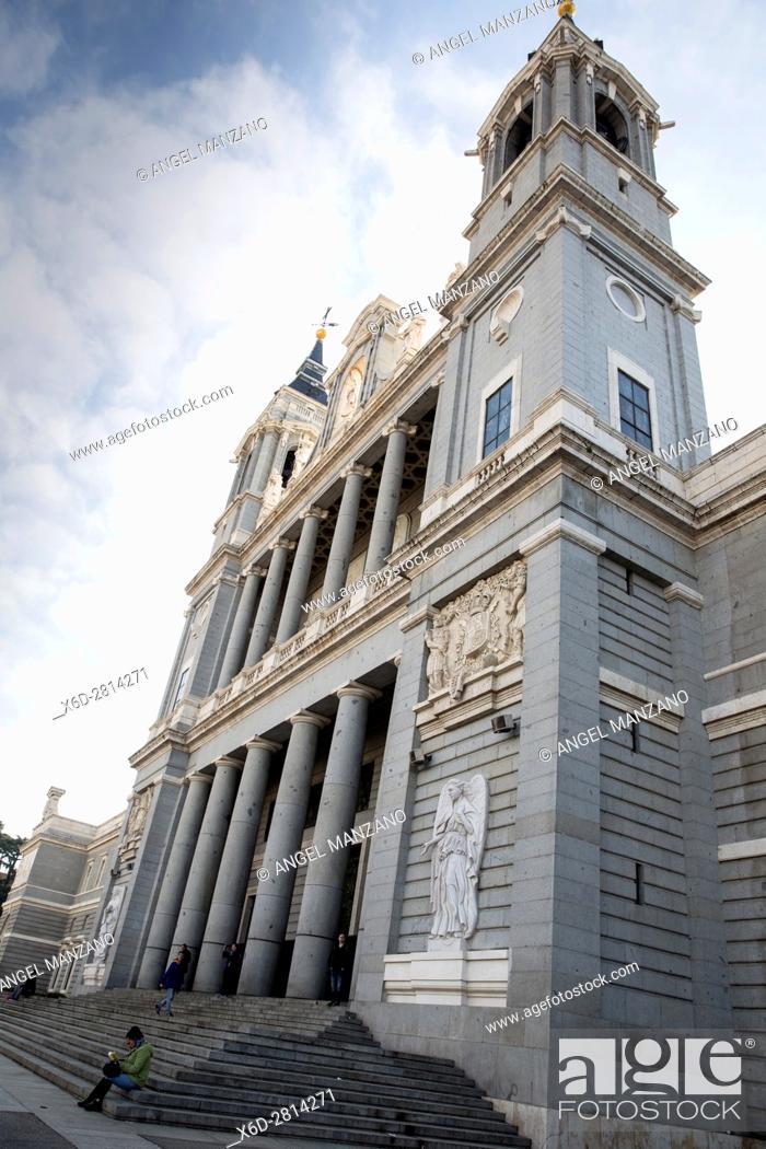 Stock Photo: La Almudena cathedral, Madrid.