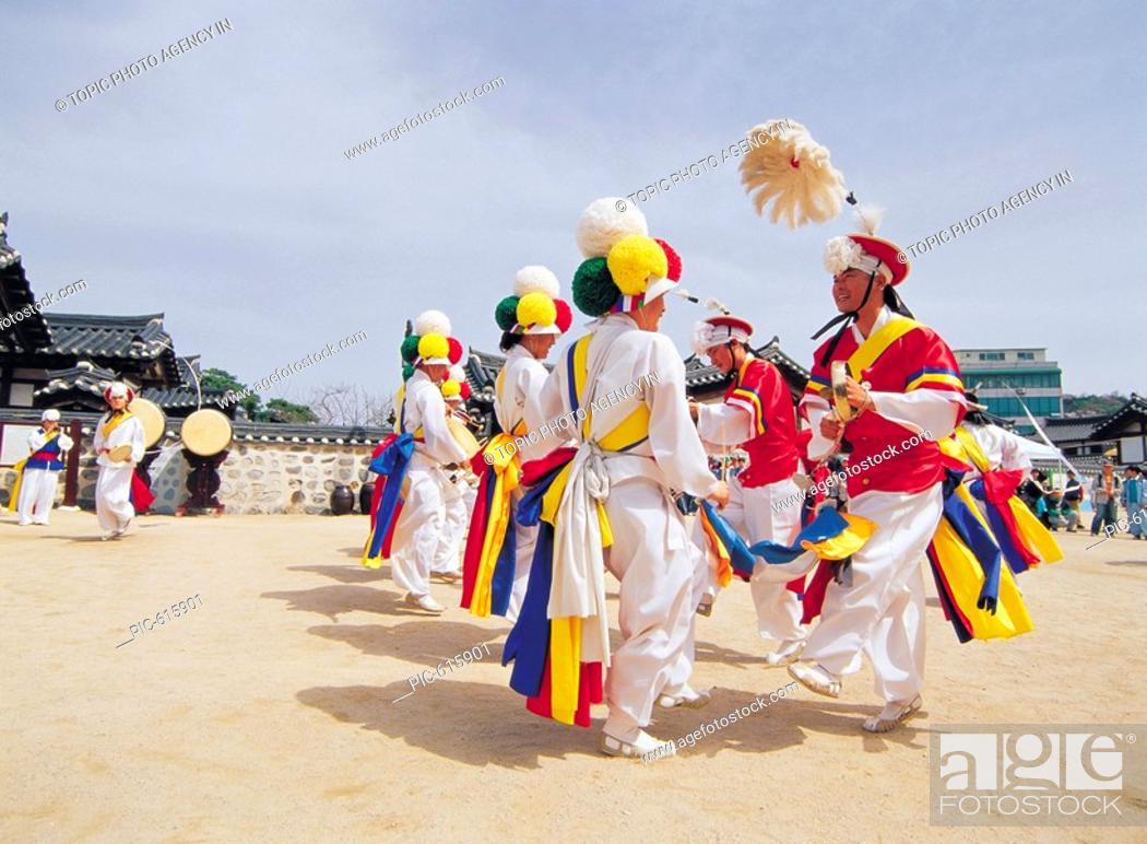 Stock Photo: SamulnoriKorean Music Traditional Performance, Korea.