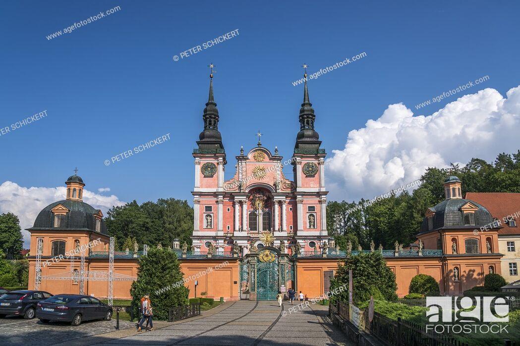 Stock Photo: Wallfahrtskirche Heilige Linde / Swieta Lipka, Ermland-Masuren, Polen, Europa | pilgrimage church Our Dear Lady of Swieta Lipka, Warmian-Masurian, Poland.