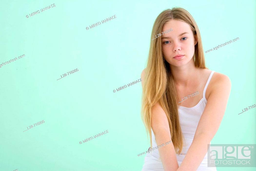 Stock Photo: Teen girl portrait.
