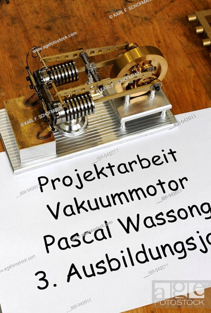 Small vacuum motor, apprentice project work exhibition, work