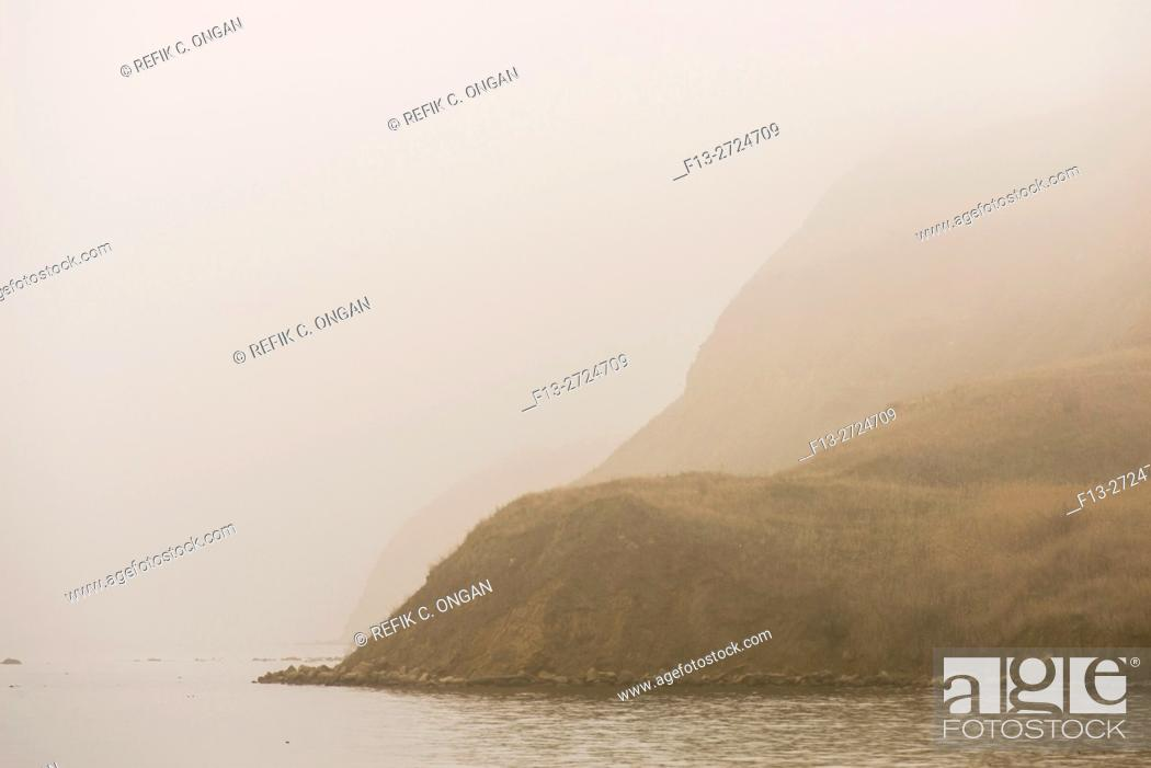 Stock Photo: foggy mountain at Marmara sea.