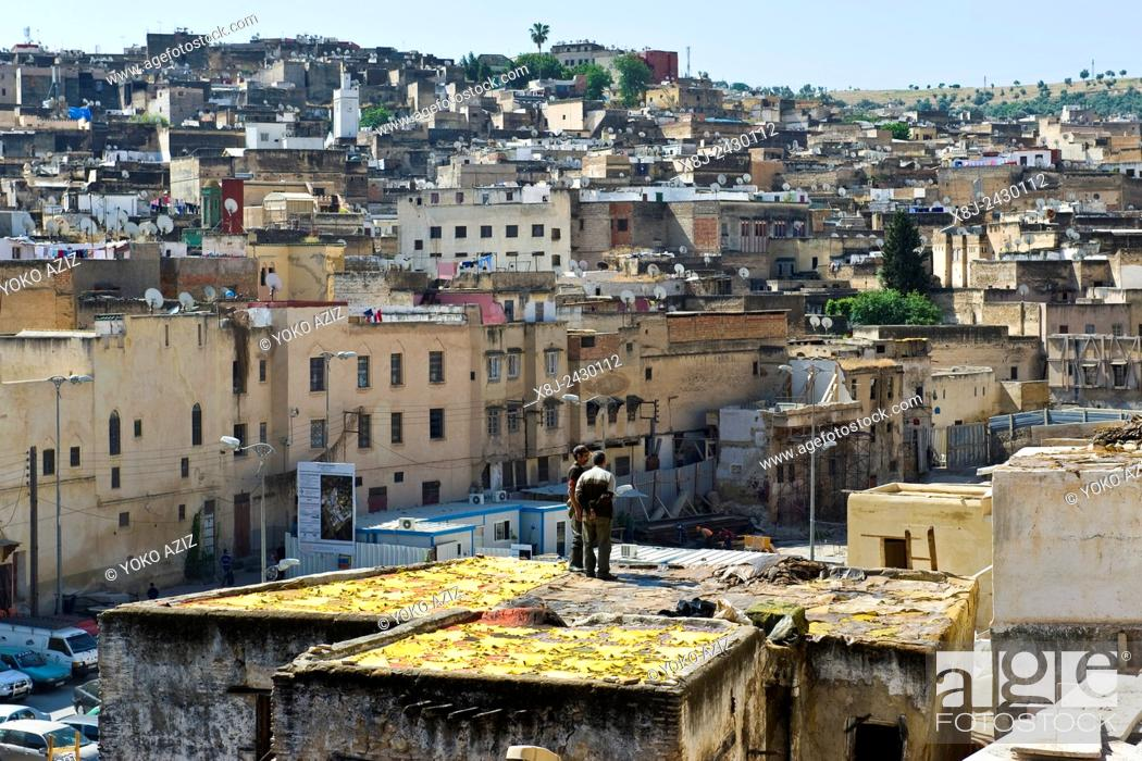 Imagen: Morocco, Fes, Chouara tannery.