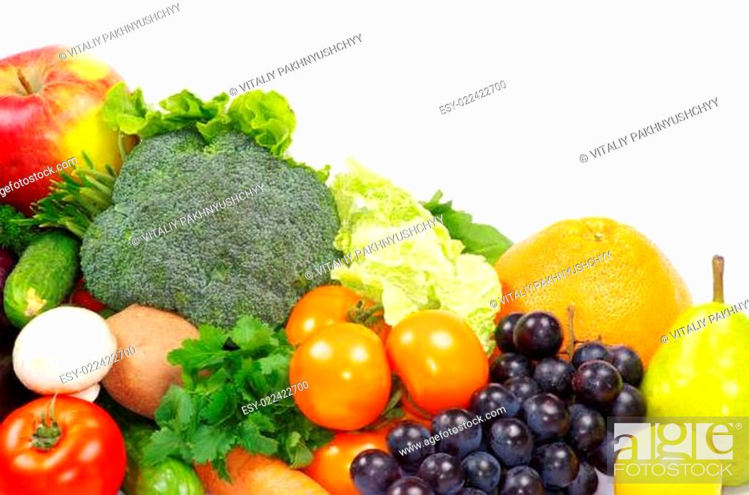 Stock Photo: fruits and vegetables.