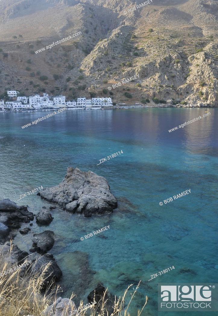 Stock Photo: Village of Loutro, the little paradise of Crete.