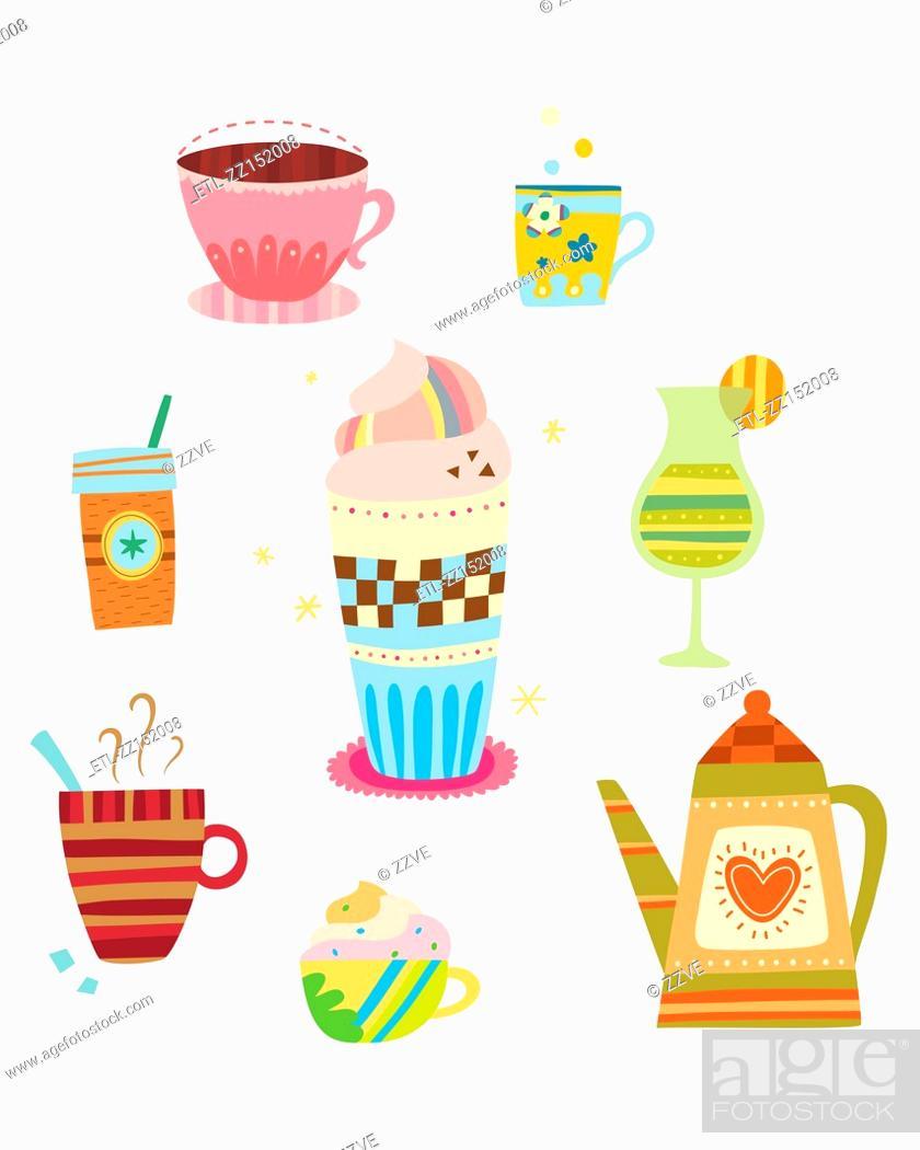Stock Photo: various drinks.