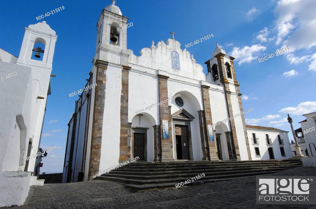 Stock Photo: Church Santa Maria da Lagoa, Monsaraz, Alentejo, Portugal, Igreja Matriz de Santa Maria da Lagoa.