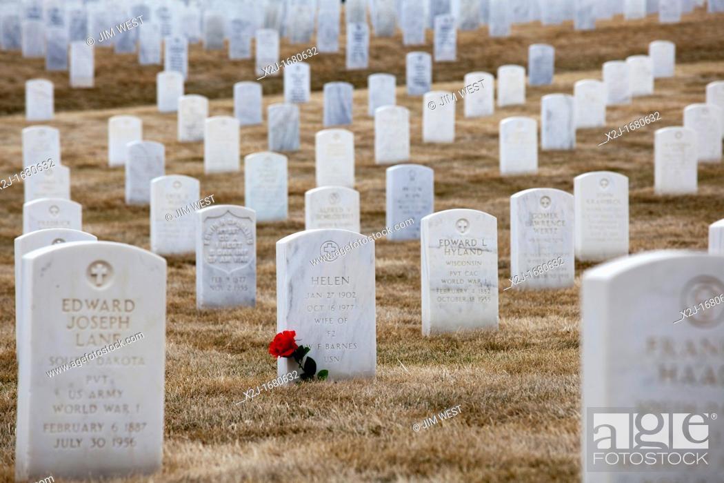 Stock Photo: Sturgis, South Dakota - Black Hills National Cemetery.