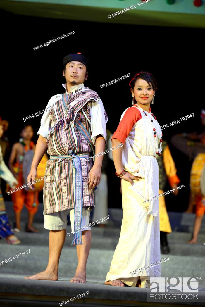 f170cbedf Couple Wearing Traditional Dress India Asia Mr#786, Stock Photo ...