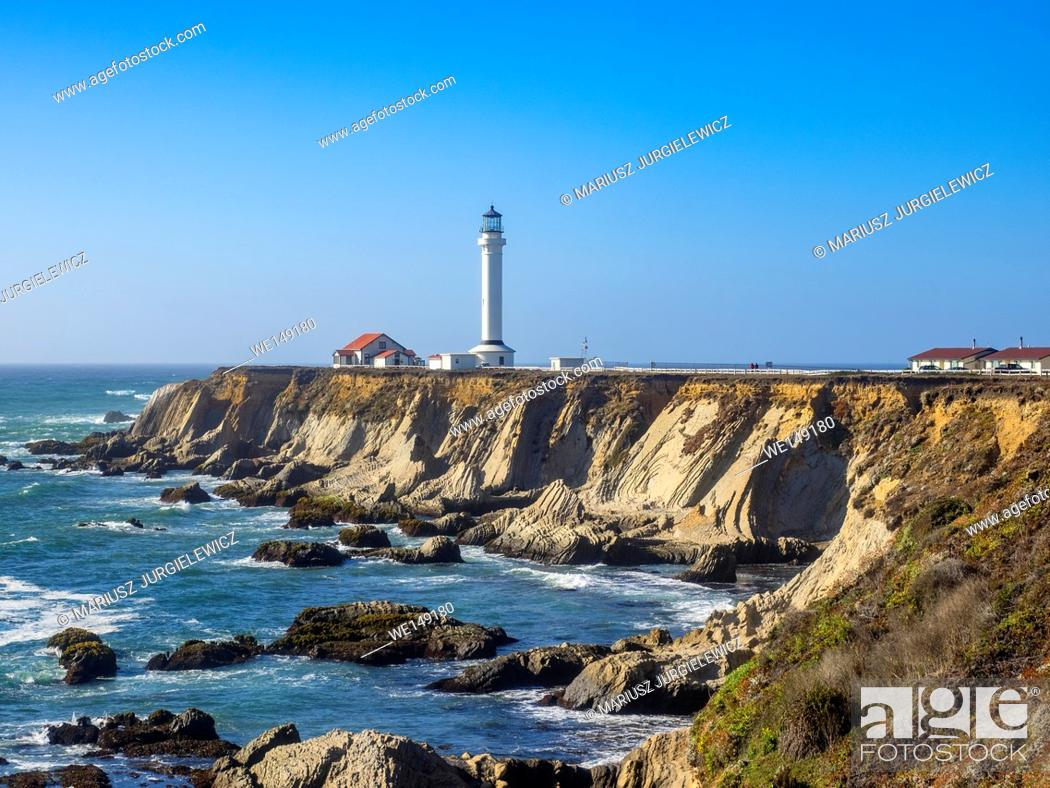 Stock Photo: Point Arena Light is a lighthouse in Mendocino County, California, United States.