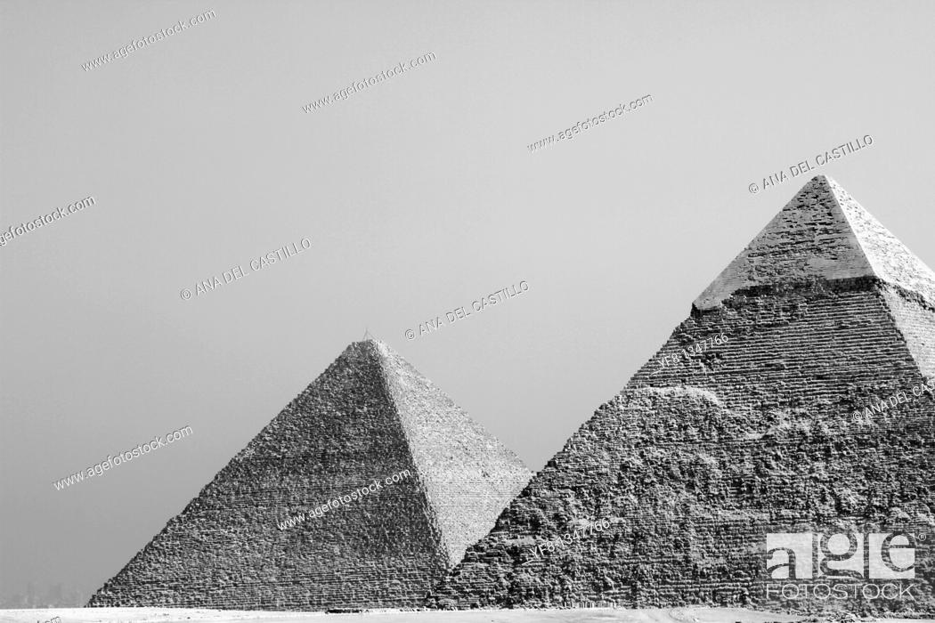 Stock Photo: Pyramids of Giza Egypt.