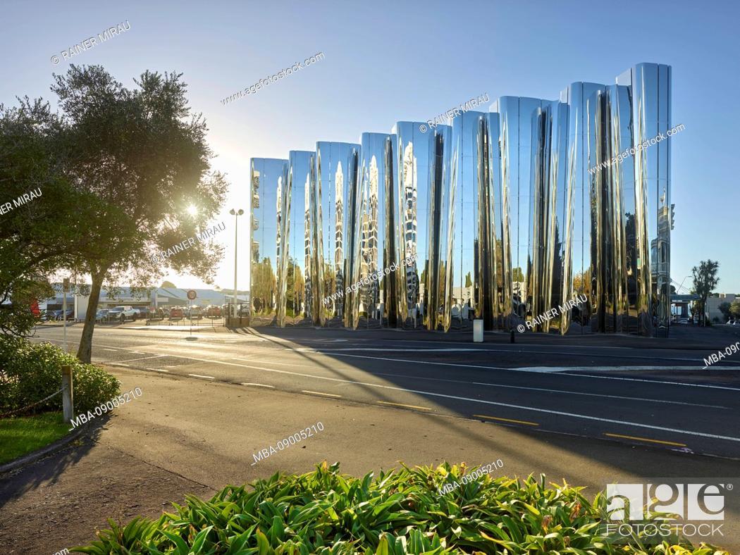 Stock Photo: Govett-Brewster Art Gallery, New Plymouth, Taranaki, North Island, New Zealand, Oceania.
