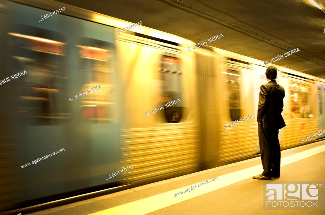 Stock Photo: Subway in Lisboa, Portugal.