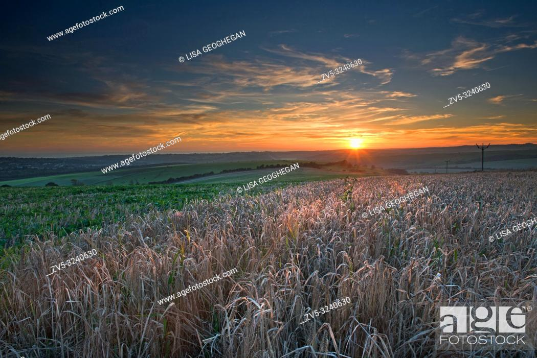 Imagen: Sunset over the South Downs National Park, East Sussex, England. Uk.