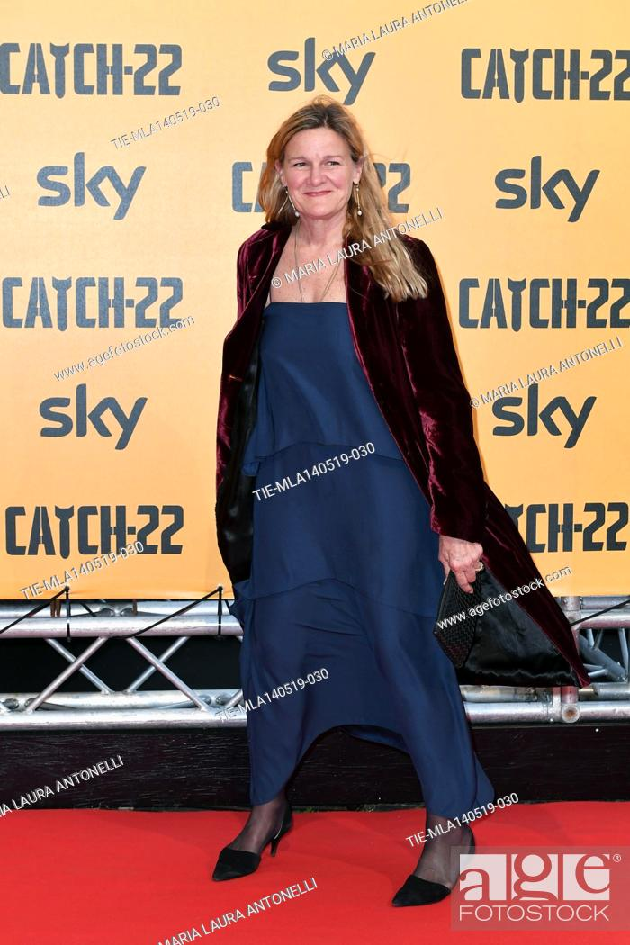 Stock Photo: Ellen Kuras during the Red carpet for the Premiere of film tv Catch-22, Rome, ITALY-13-05-2019.