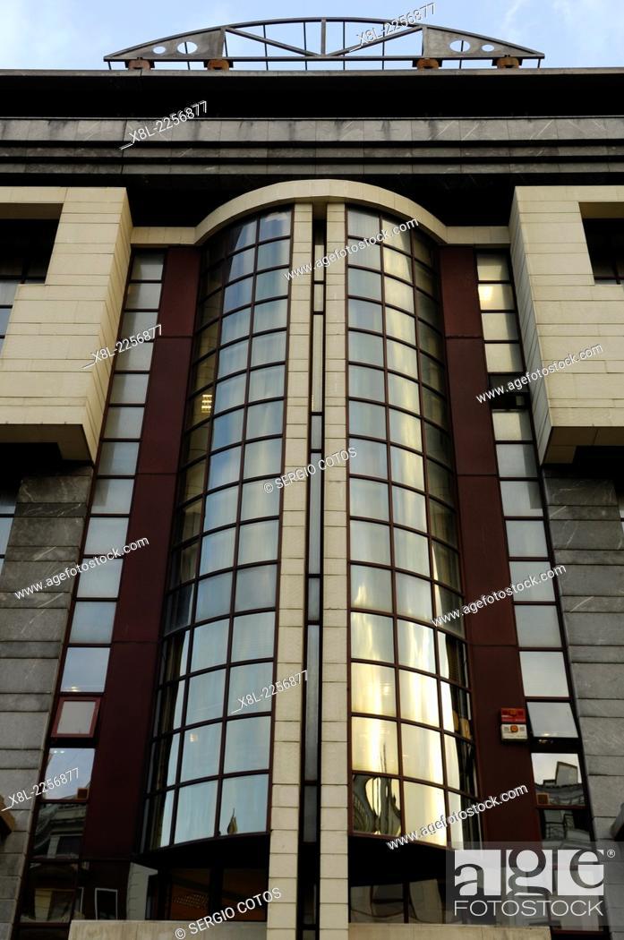 Stock Photo: Office building and health center in San Sebastian, Guipuzcoa.