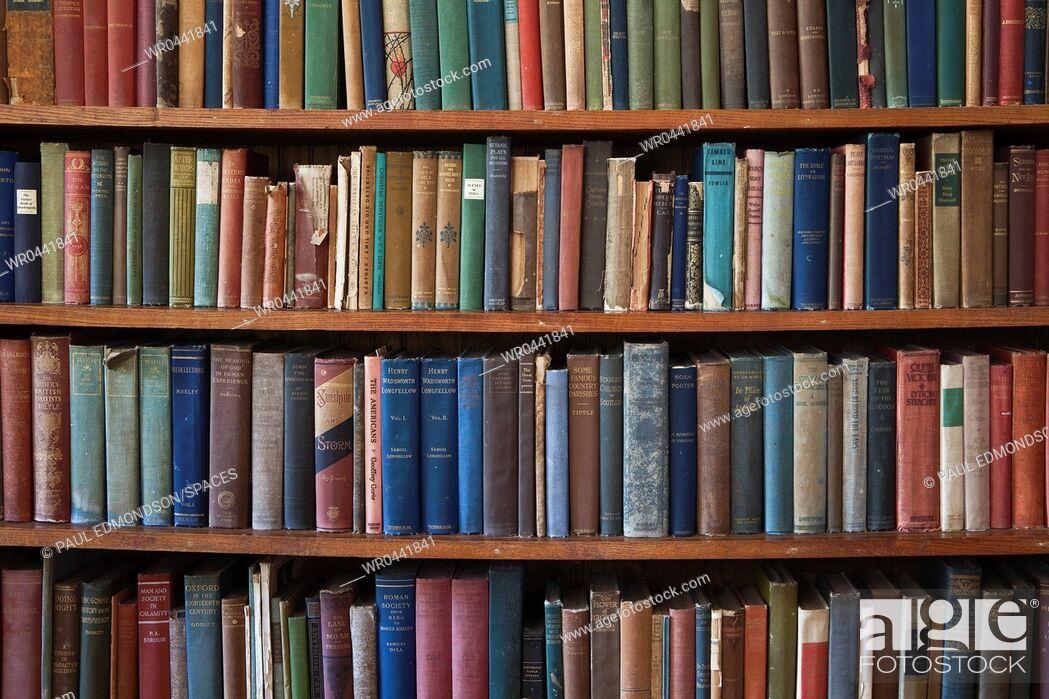 Imagen: Old Books on a Bookshelf.
