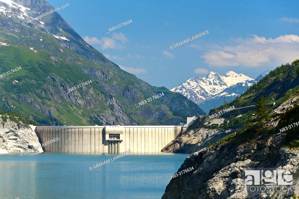 Stock Photo: Lac du Chevril, Savoie, France, Europe.