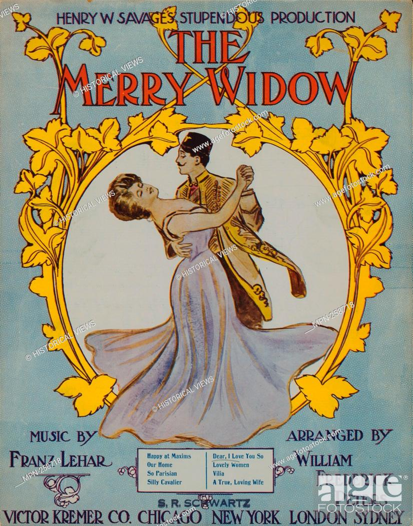 Stock Photo: Dear, I love you so Additional title: Lustige Witwe. Dear, I love you so. Vocal score. Peters, William Frederick (1871-1938 ) (Arranger) Atteridge.