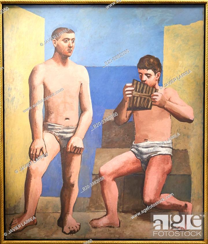 """Stock Photo: """"La Flûte de Pan"""", 1923, Pablo Picasso, Picasso Museum, Paris, France, Europe."""