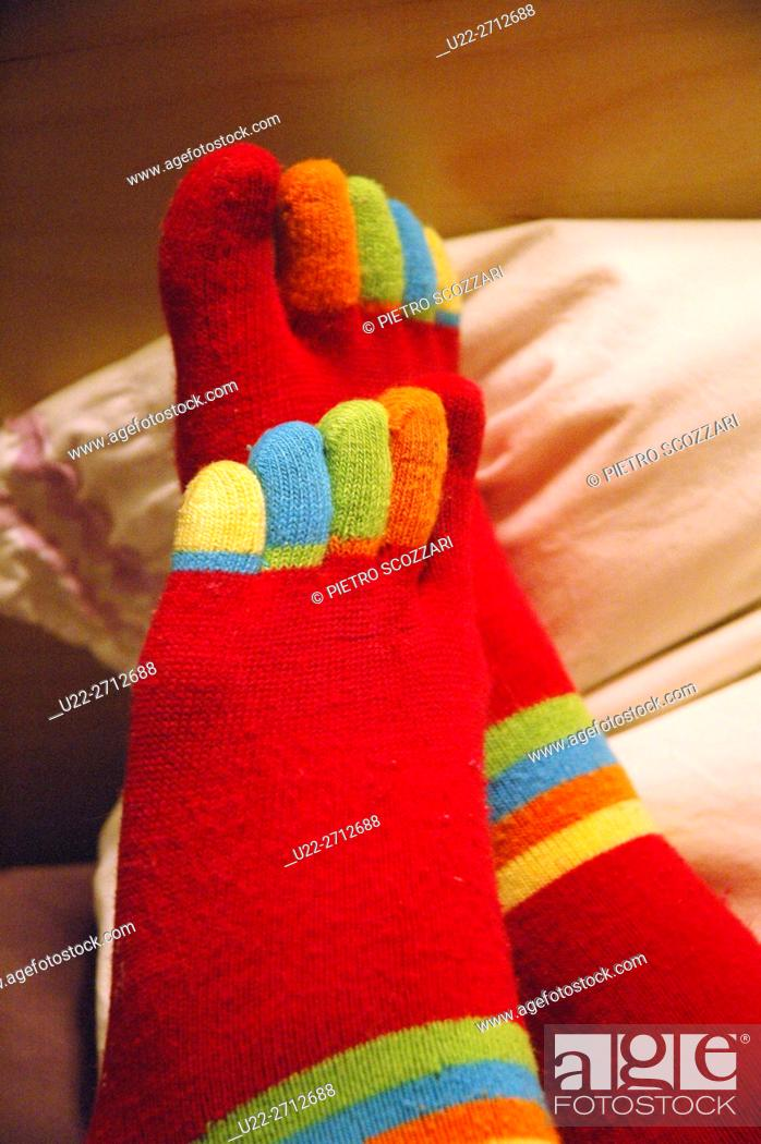 Stock Photo: Five-toes socks.