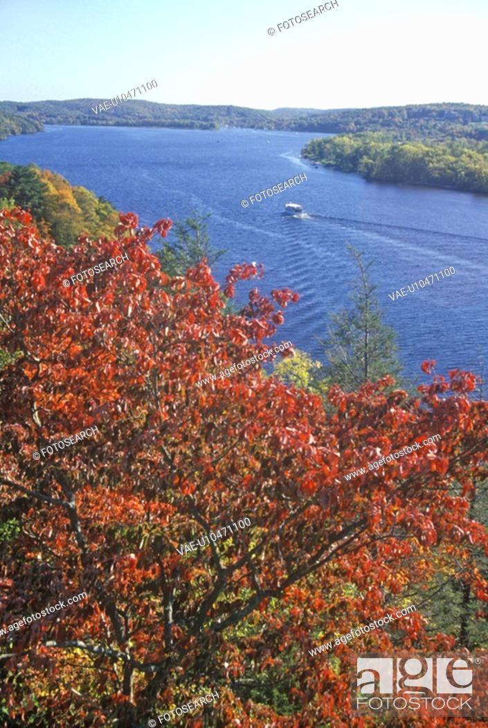 Stock Photo: View of the Connecticut River form Gillette Castle.