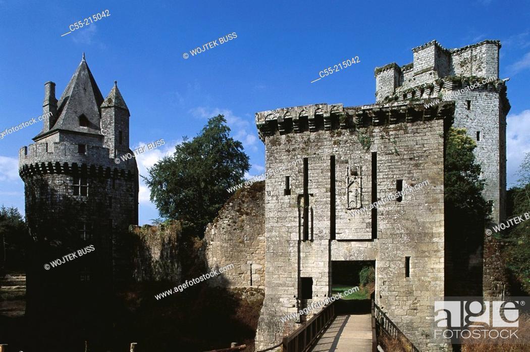 Stock Photo: Château de Largoët. Elven. Morhiban. Brittany. France.