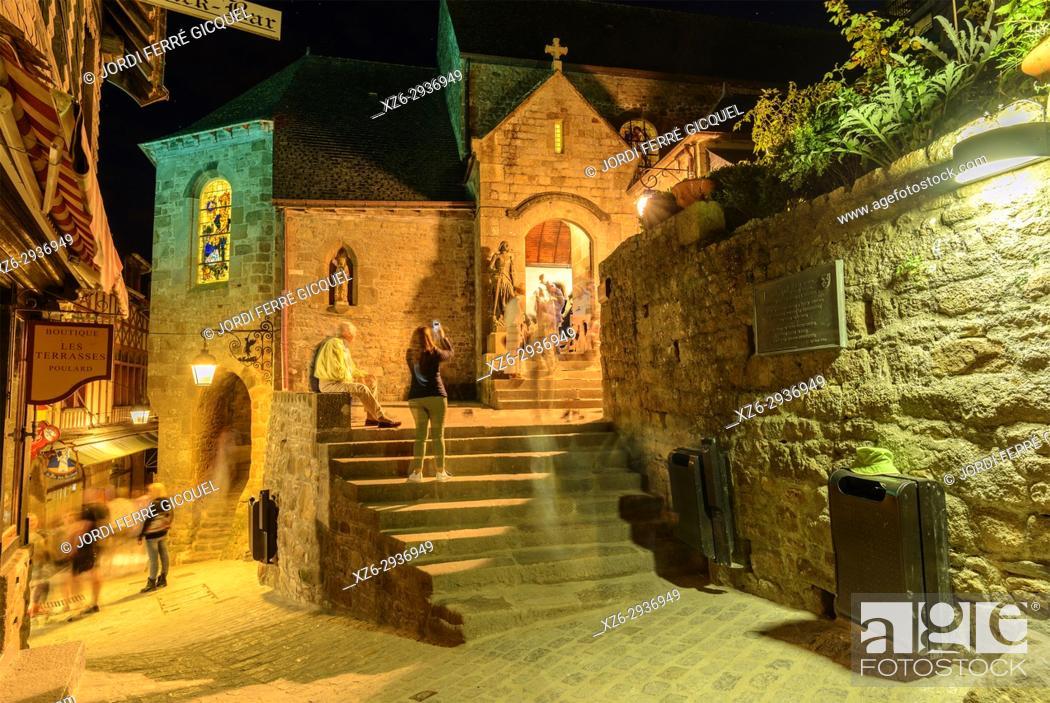 Stock Photo: Le Mont-Saint-Michel, La Manche, Normandie, France, Europe.
