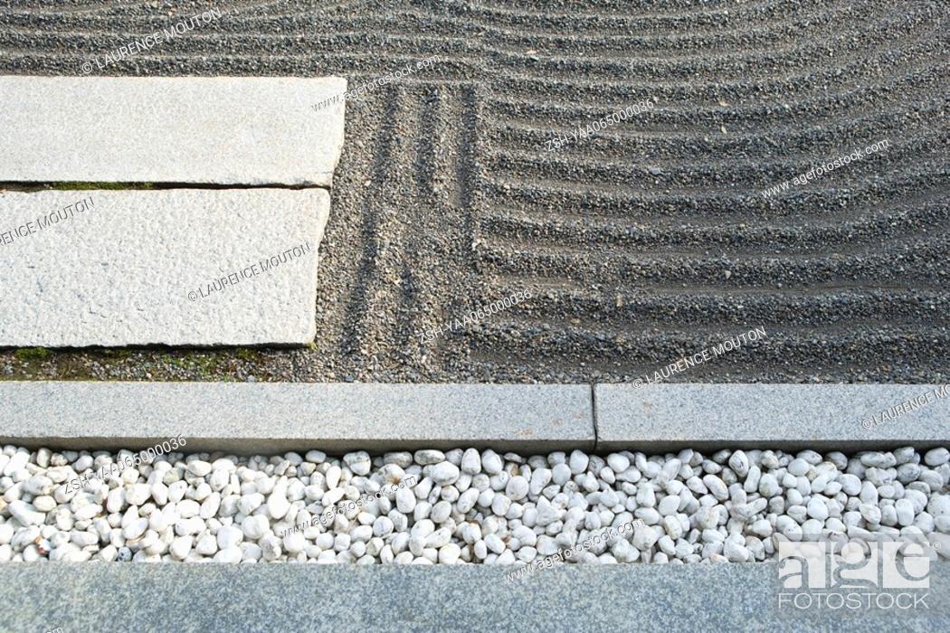 Stock Photo: Zen rock garden, close-up.